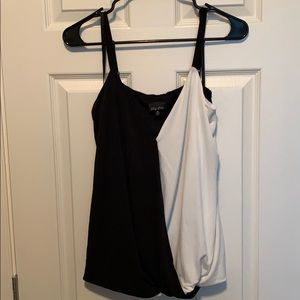 City Chic Black and White Tank Top